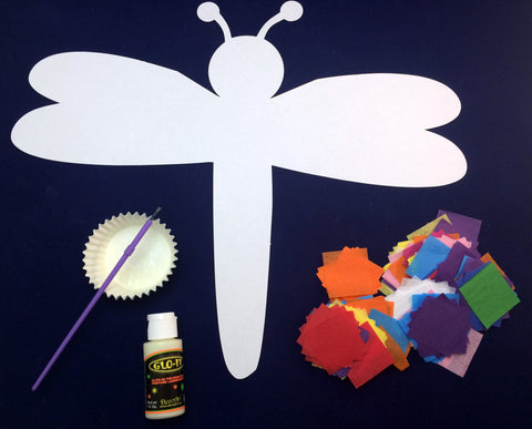 Art Activity - Collage Firefly that Glows-In-The-Dark Inspired by The Very Lonely Firefly by Eric Carle