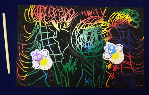 Art Activity Night Sky Scratch Art- Inspired by The Very Lonely Firefly by Eric Carle