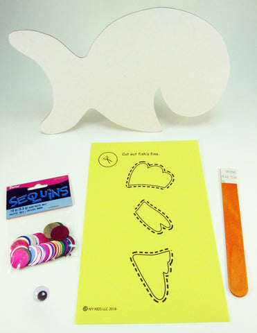Fish Stick Puppet: Art Activity inspired by A Fish Out of Water by Helen Palmer