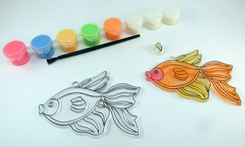 Fish Sun Catcher that Glows in the dark: Art Activity inspired by A Fish Out of Water by Helen Palmer