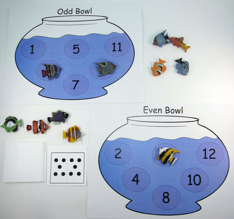 Odd and Even Fish Bowl Bingo: Math Activity inspired by A Fish Out of Water by Helen Palmer