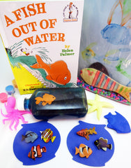 Ivy Kids kit containing math, literacy, science, and art activities based on A Fish Out of Water by Helen Palmer