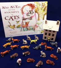 Art, math, literacy, and science activities inspired by the book Mrs. McTats and her Houseful of Cats