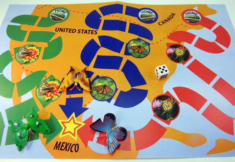 Mexi-Go a board game based on the butterfly migration - Ivy Kids Educational Activity Kit featuring the book Gotta Go! Gotta Go! by Sam Swope and over 10 art, literacy, math, and science activities inspired by the story. Learn about monarch butterflies. Perfect kit for spring.