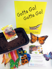 Ivy Kids Educational Activity Kit featuring the book Gotta Go! Gotta Go! by Sam Swope and over 10 art, literacy, math, and science activities inspired by the story. Learn about monarch butterflies. Perfect kit for spring.