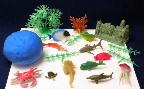 Make your own coral reef with clay and sea creatures