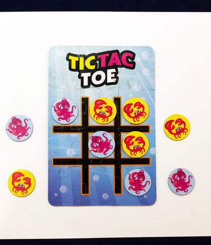 tic tac toe puzzle with sea creatures