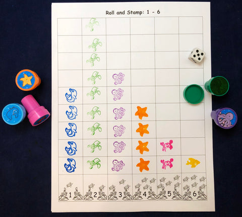 Stamp math games kids