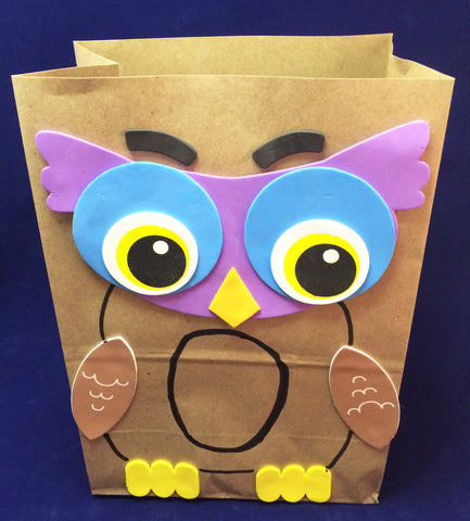 Art Activity - Paper bag owl inspired by Owl Babies