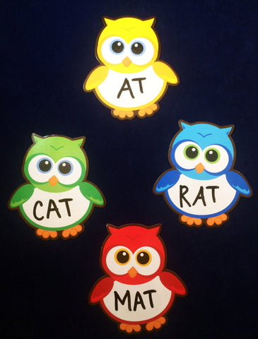 Word Families using Magnetic Dry-erase owls