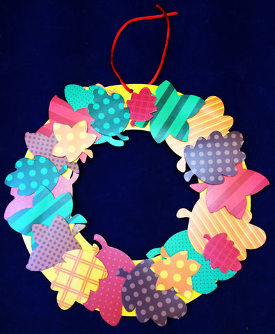 Art activity - Leaf Wreath inspired by the book Leaves by David Ezra Stein