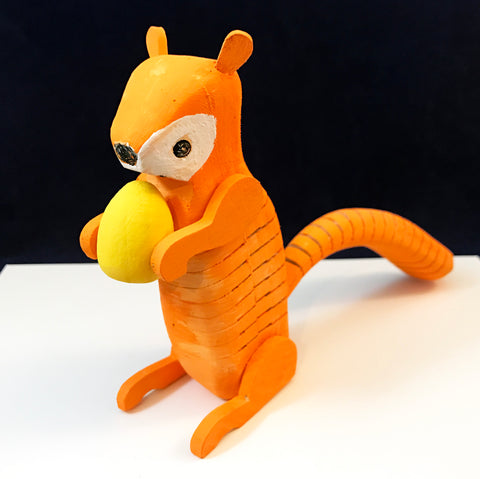 Squirrel craft project inspired by the book Nuts to You!
