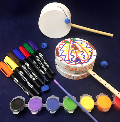 Decorate a drum Art Activity
