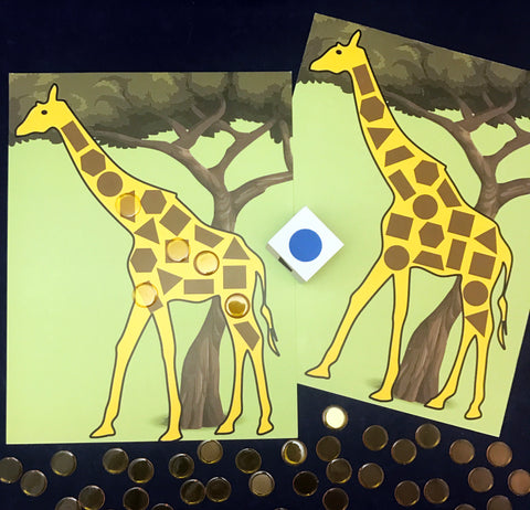 Giraffe Spots Shape Math Game