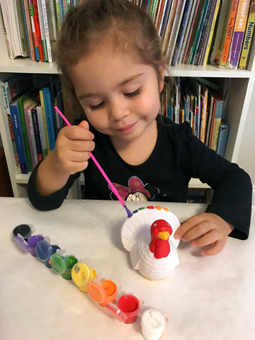 Painting a turkey craft