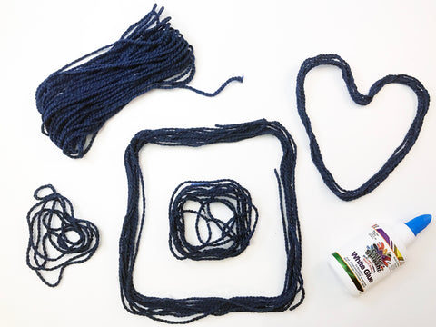 Making shapes with yarn inspired by When a Line Bends a Shape Begins