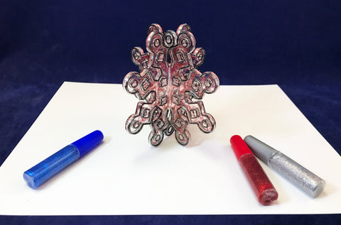 3D snowflake sun catcher art project