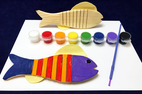 Paint a Wooden Fish Craft