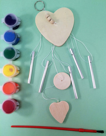 Decorate your own Wind Chime, art activity, to go along with May's Ivy Kids kit featuring the book The Wind Blew by Pat Hutchins.