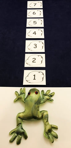 Sandbag frog toss number game