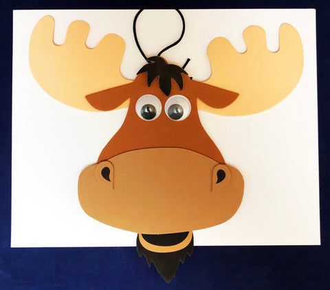 Moose face craft art kids