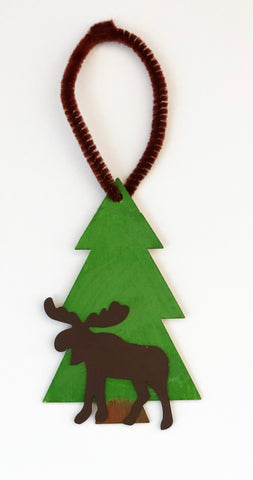 Moose tree ornament