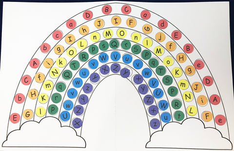 Letter Rainbow Activity Upper case and lower case letters