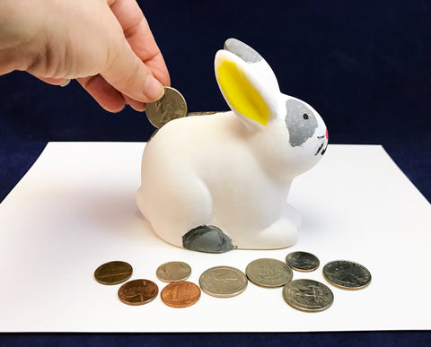 Ceramic Bunny Bank to Paint - art activity