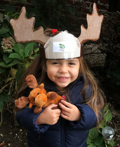 Moose headband for kids and plush doll