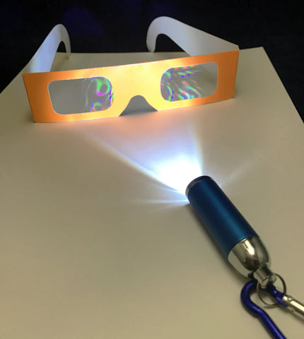 Diffraction glasses to make rainbows