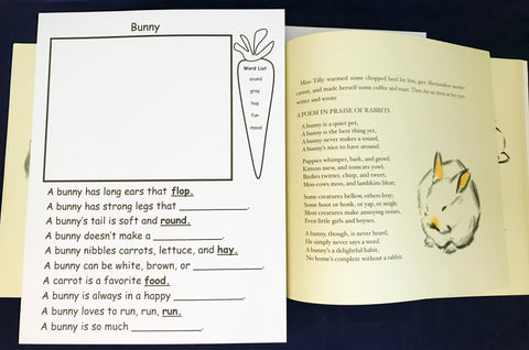 Bunny Poem to go along with book Marshmallow by Clare Turlay Newberry