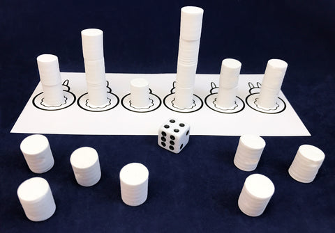 Marshmallow Math Game - graphing with foam marshmallows