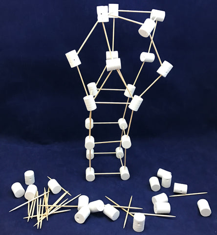 Structures and building with foam marshmallows