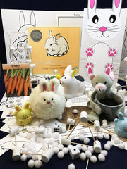 Bunny and Cat Games - Subscription box for children STEAM activities inspired by Marshmallow Bunny by Clare Turlay Newberry