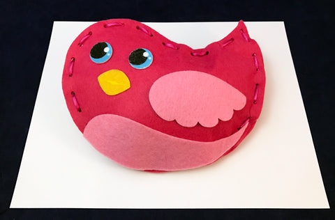 Make your own plush bird lacing craft