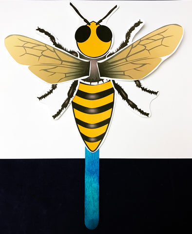 bee stick puppet