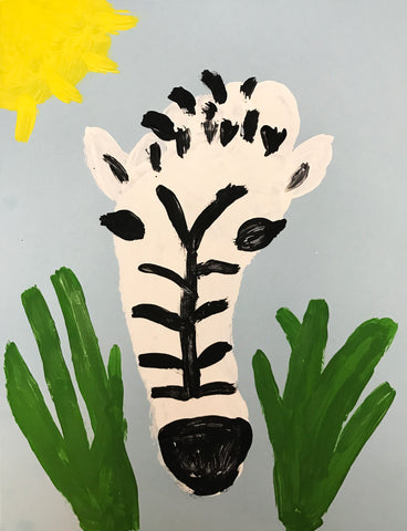 Zebra Footprint Art Project