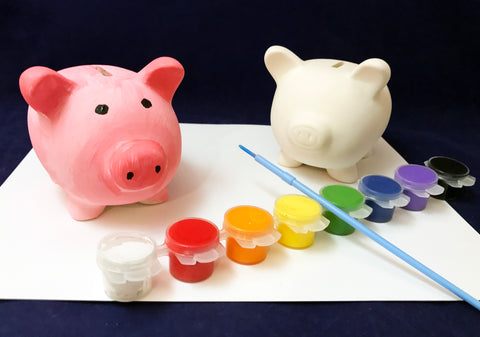 DIY Piggy Bank Farm Art Activity
