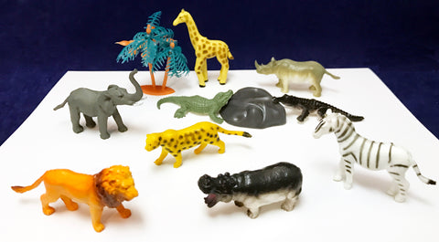 African Animal toy figures