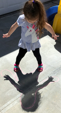 Record your shadow with chalk