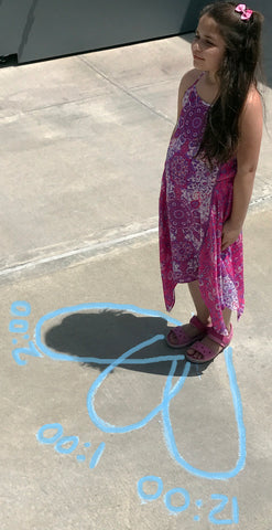 human sundial chalk activities summer fun for kids