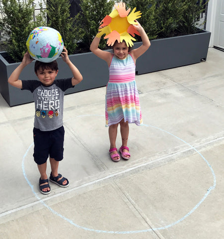act out the earth's rotation around the sun, earth orbiting the sun activity for kids science