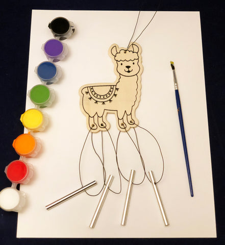 Llama wind chime art project
