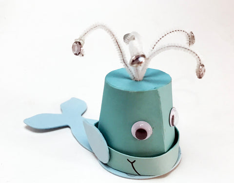 Make a flowerpot whale craft