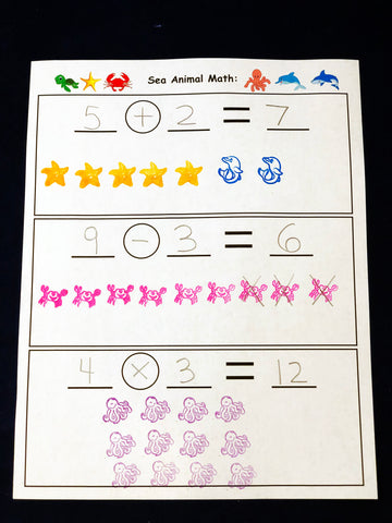 Using Stamps to solve math problems kids math games