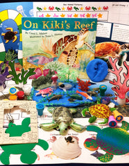Green Sea Turtle and coral reef themed activities for kids