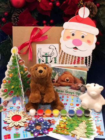 Christmas crafts, ornaments and book subscription box for kids