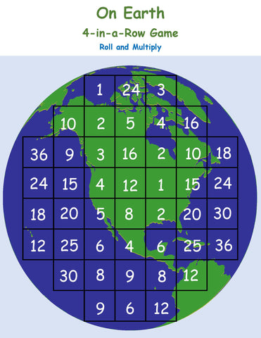 Earth Inspired math game STEM kids