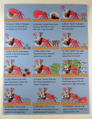 Calendar instructional - A House for Hermit Crab - Ivy Kids subscription box activities.