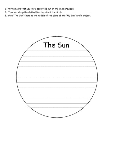 the sun writing prompt
